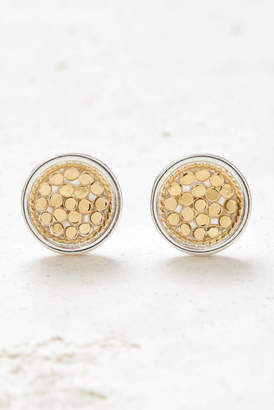 Anna Beck Gold Dish Stud Earrings
