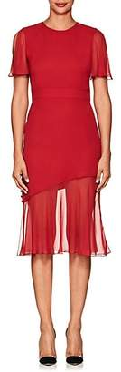 Prabal Gurung Women's Victoria Silk Asymmetric Dress - Cardinal