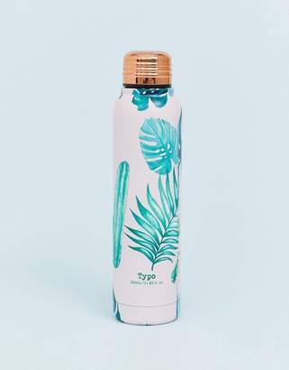 Cotton On monsteria leaf metal water bottle 350ml