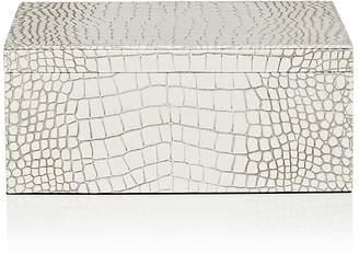 Barneys New York Croc-Embossed Leather Large Box