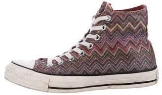 Missoni x Converse Chevron High-Top Sneakers