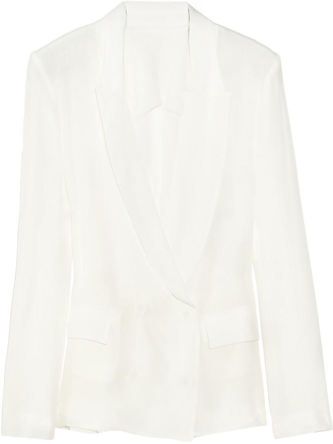 Acne Tate silk-crepe blazer