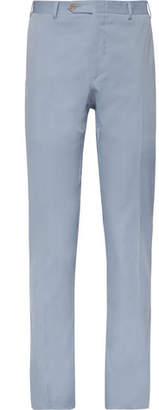 Canali Light-Blue Slim-Tapered Stretch-Cotton Suit Trousers