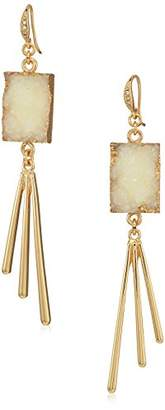 ABS by Allen Schwartz Womens Rockstars Drop Earrings