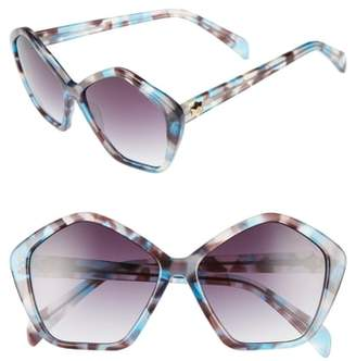 Draper James 57mm Gradient Lens Geometric Sunglasses