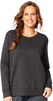 Just My Size Plus Size Fleece Crew Sweatshirt
