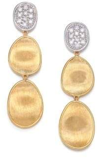Marco Bicego Women's Lunaria Diamond& 18K Yellow Gold Triple-Drop Earrings - Gold