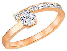 Swarovski Fresh Crystal Rose Gold-Plated Ring