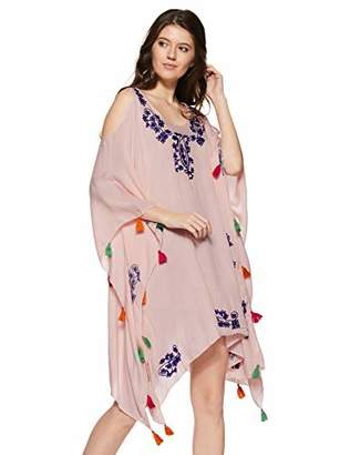 Wild Hazel Women's Viscose Embroidery Tassel Coverups