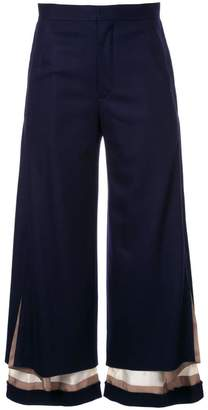 Undercover layered flared trousers