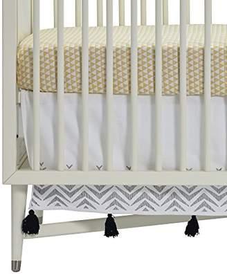DwellStudio Zebra Embroidered Crib Skirt by Dwell Studio
