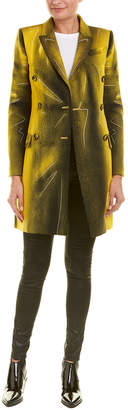 Moschino Wool-Blend Long Over Coat