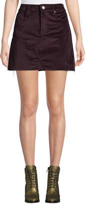 Blank NYC Wine Buzz Velvet Mini Skirt