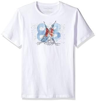 Nautica Men's Standard Short Sleeve Sail Boats Graphic T-Shirt