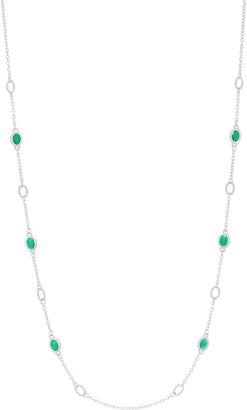 "Judith Ripka Verona Sterling Silver Gemstone 36"" Necklace"