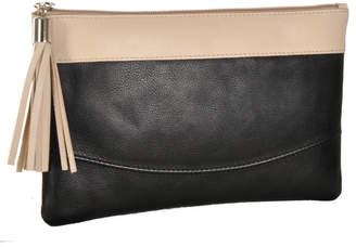 5f38bbaa29d9 Vondie   Will Black  Marfil Leather Clutch