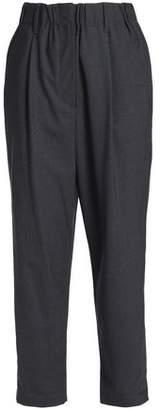 Brunello Cucinelli Wool-Blend Straight-Leg Pants