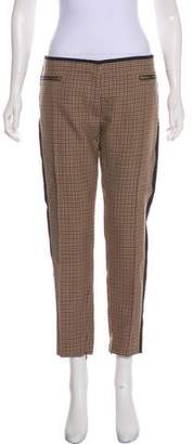 Celine Houndstooth Mid-Rise Pants