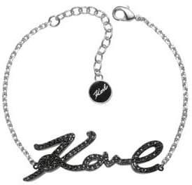 Karl Lagerfeld Paris Klassic Crystal Love Charm Bracelet