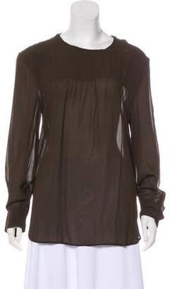 Etoile Isabel Marant Long Sleeve Chiffon Blouse