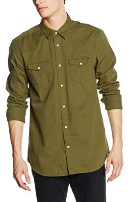 New Look Men's Western Regular Fit Long Sleeve Casual Shirt