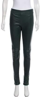 Balenciaga Leather Skinny Pants