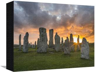 Art.com Standing Stones of Callanish, Isle of Lewis, Western Isles, Scotland Stretched Canvas Print By Martin Zwick - 23x30 cm