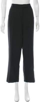 Calvin Klein Wool Mid-Rise Wide Pants