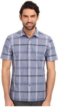 Perry Ellis Slim Fit Space Dye Plaid Pattern Shirt $49.99 thestylecure.com