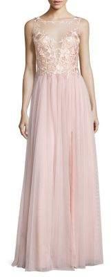 Basix Black Label Illusion Lace Gown