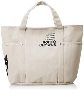 Rodeo Crowns (ロデオ クラウンズ) - [ロデオ クラウンズ] TOTE L CANVAS LOGO PRINT c06229101 BE ベージュ