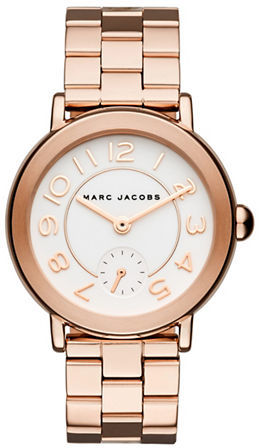 Marc Jacobs Marc Jacobs Rose Goldtone Stainless Steel Link Bracelet Watch, MJ3471