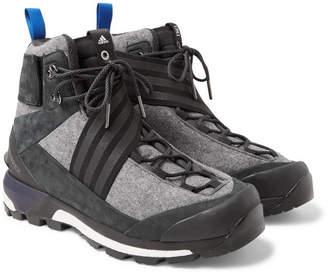 + Xhibition Terrex Tracefinder Wool And Suede Sneakers - Blackadidas Consortium 6MYt8mzK