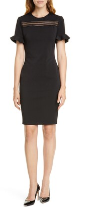 Ted Baker Lace Inset Sheath Dress