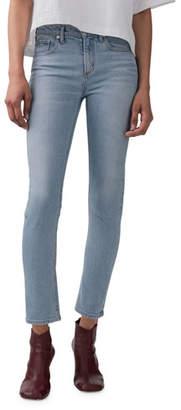 A Gold E AGOLDE Toni Mid-Rise Slim Straight Jeans