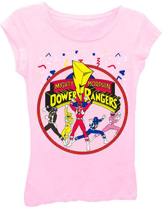 Asstd National Brand Power Rangers Girls' Team Action Pose with Logo Short Sleeve Graphic T-Shirt