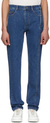 Y/Project Blue Multi Zips Jeans