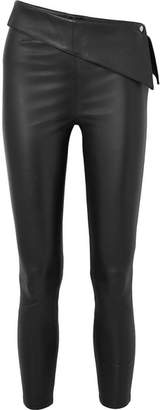 RtA Rumer Cropped Stretch-leather Leggings - Black