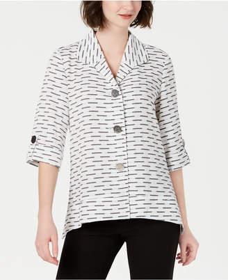 JM Collection Petite Textured 3/4-Sleeve Jacket