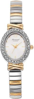 Gruen Precision By Precision by Women's Crystal Two Tone Expansion Watch