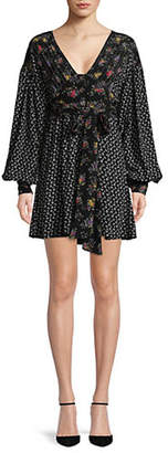 Free People Wonderland Mini Fit--Flare Dress