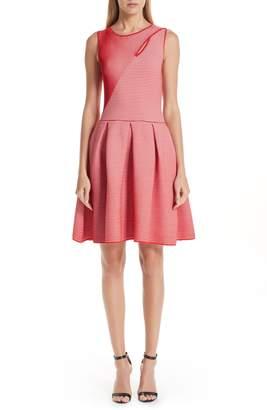 Emporio Armani Stripe Knit Jersey Dress