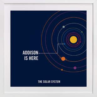 You are Here Children's Custom Art Print