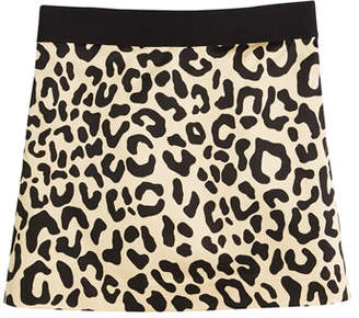 Milly Minis Cheetah-Print Mini Skirt, Size 8-16