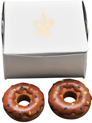 The Queen's Treasures Set Of 2 Chocolate Donuts Doll Food