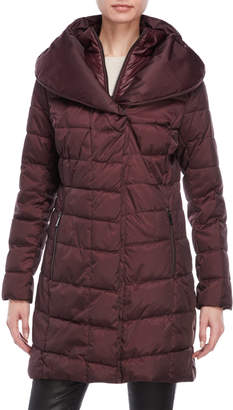Kenneth Cole Pillow Collar Quilted Puffer Coat