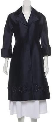 Agnona Embroidered Satin Coat