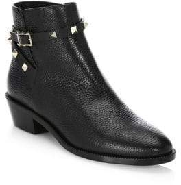 Valentino Garavani Leather Ankle Booties