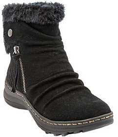 BareTraps Water-Resistant Suede Ankle Boots - Amelya $79.98 thestylecure.com