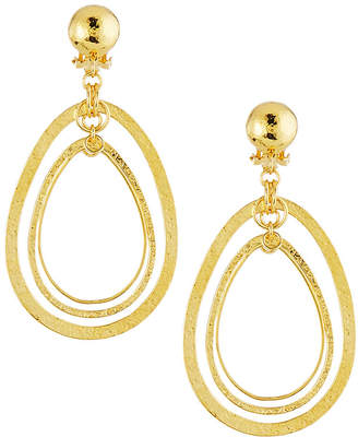Jose & Maria Barrera Hammered & Polished Drop Earrings